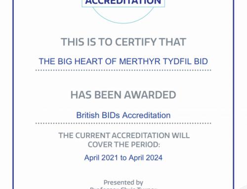 Merthyr BID Gains Accreditation
